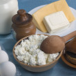 Stock Photo: Dairy product on cook-table