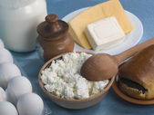 Dairy product on a cook-table — Stock Photo