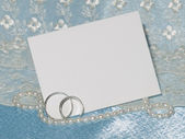 White card for congratulation — Stock Photo
