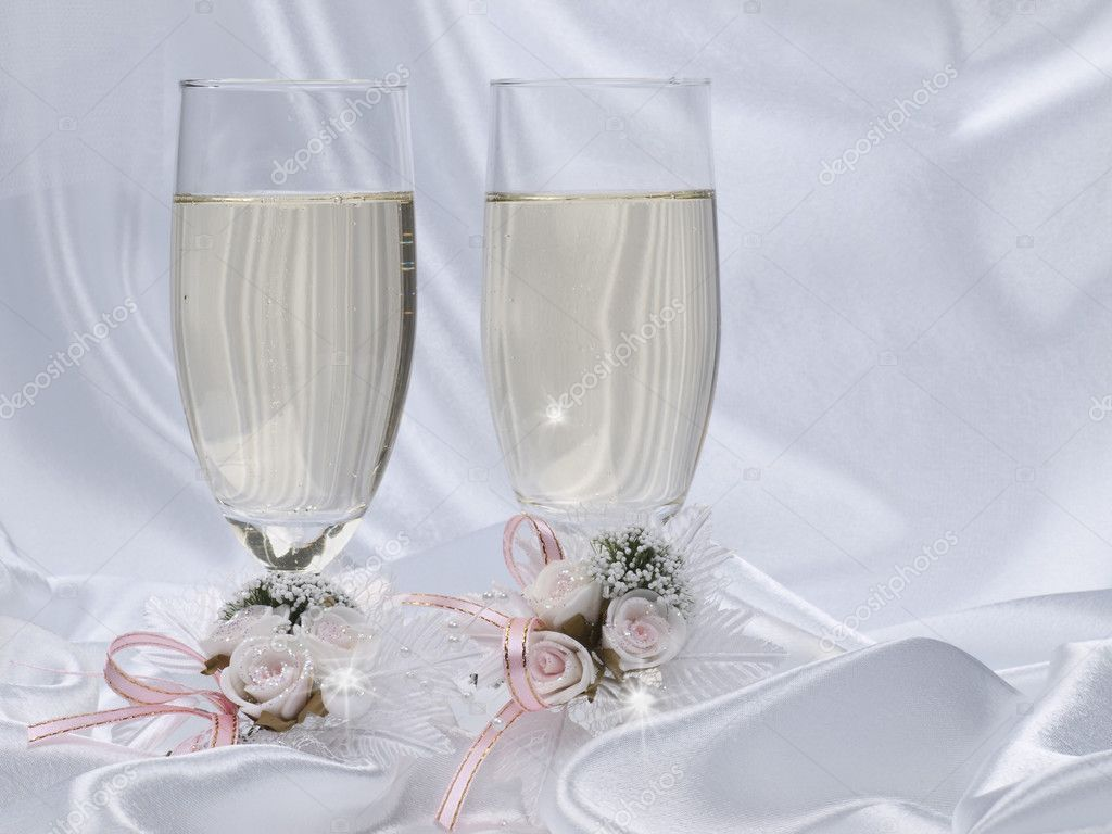 Glasses With Champagne And Wedding Decor Stock Photo Nolan777 3168155