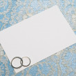 Royalty-Free Stock Photo: White card for congratulation