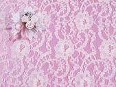 Weddings accessorie a buttonhole — Stock Photo