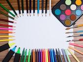 Diferentes objetos de dibujo — Foto de Stock