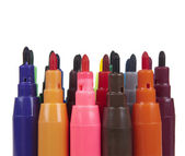Set from varicoloured markers — Stock Photo