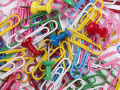 Background from colourful paper clips. — Stock Photo