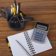 Desk organizer with office  tools - Stock Photo