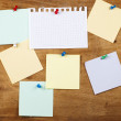 Collection of various note papers — Stock Photo
