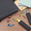 Stationeries on a table - Stockfoto