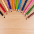 Stock Photo: Multicolored sharpened pencils.