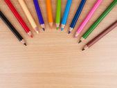 Multicolored sharpened pencils. — Stock Photo