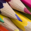 Stockfoto: Set from multicolored pencils.
