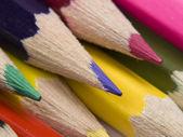 Instellen van veelkleurige potloden. — Stockfoto