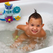 Child in bathing — Stock Photo