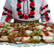 The Ukrainian sandwiches — Stock Photo