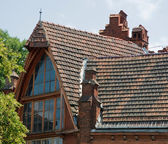 Roof of the old house — Stock Photo