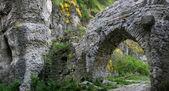 一个古老的堡垒的大门 — 图库照片