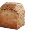 Loaf of bread over white background — Stock Photo