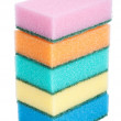 Sponges on white background — Stock Photo
