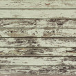 Peeled green painted wooden wall — Stock Photo