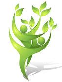 绿色的舞者 — 图库矢量图片