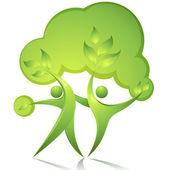 Green dancers — Stock Vector
