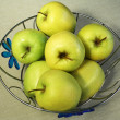 Vase of green apples — Stock Photo
