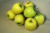 Group of green apples — Stock Photo