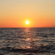 Stock Photo: Sunset in sea