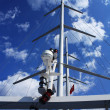 Stock Photo: Mast of walking seyacht