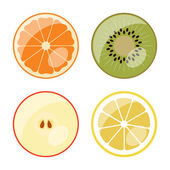 Fruit - vector web icons (buttons) — Stock Vector