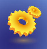 The icon indicating the settings - two gears. — Stock Photo