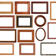 Vintage frames set — Stock Photo