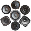 Set of sound speakers — Stock Photo