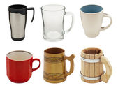 Set of mugs — Stock Photo