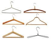 Clothes hangers set — Stock Photo
