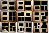 Antigo conjunto de álbuns de foto — Fotografia Stock