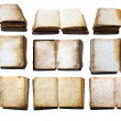 Vintage books set isolated — Stock Photo