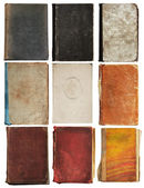 Old books set isolated — Stock Photo