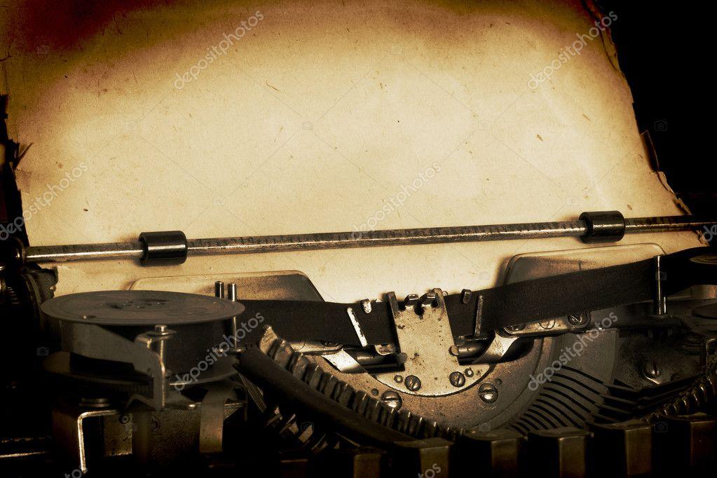 Retro typewriter with paper  Vintage Typewriter Paper Photography