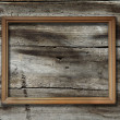 Frame on wooden background — Stock fotografie