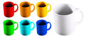 Colored mugs — Foto de Stock