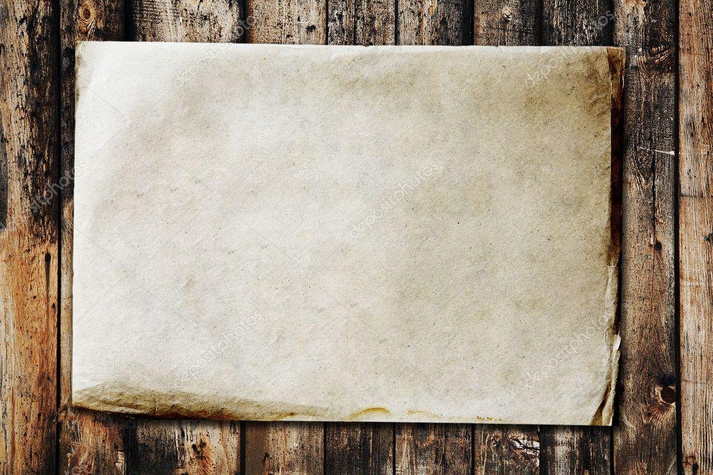 复古纸上旧木材纹理– 图库图片
