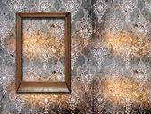 пустой кадр на стене — Стоковое фото