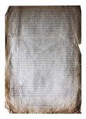 Old paper isolatedold — 图库照片