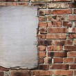 Paper on brickwall — Stock Photo #3370283
