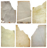 Old papers set isolated — Stock Photo