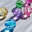 Multicoloured beads — Stock Photo