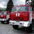 Stock Photo: Three fire trucks