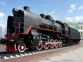 Black locomotive — Stock Photo