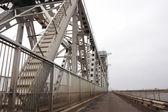 Large metallic bridge — Stock Photo